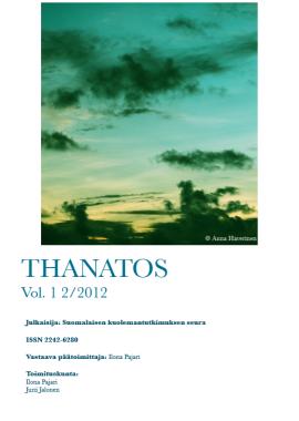 Thanatos vol 1 no 2 2012